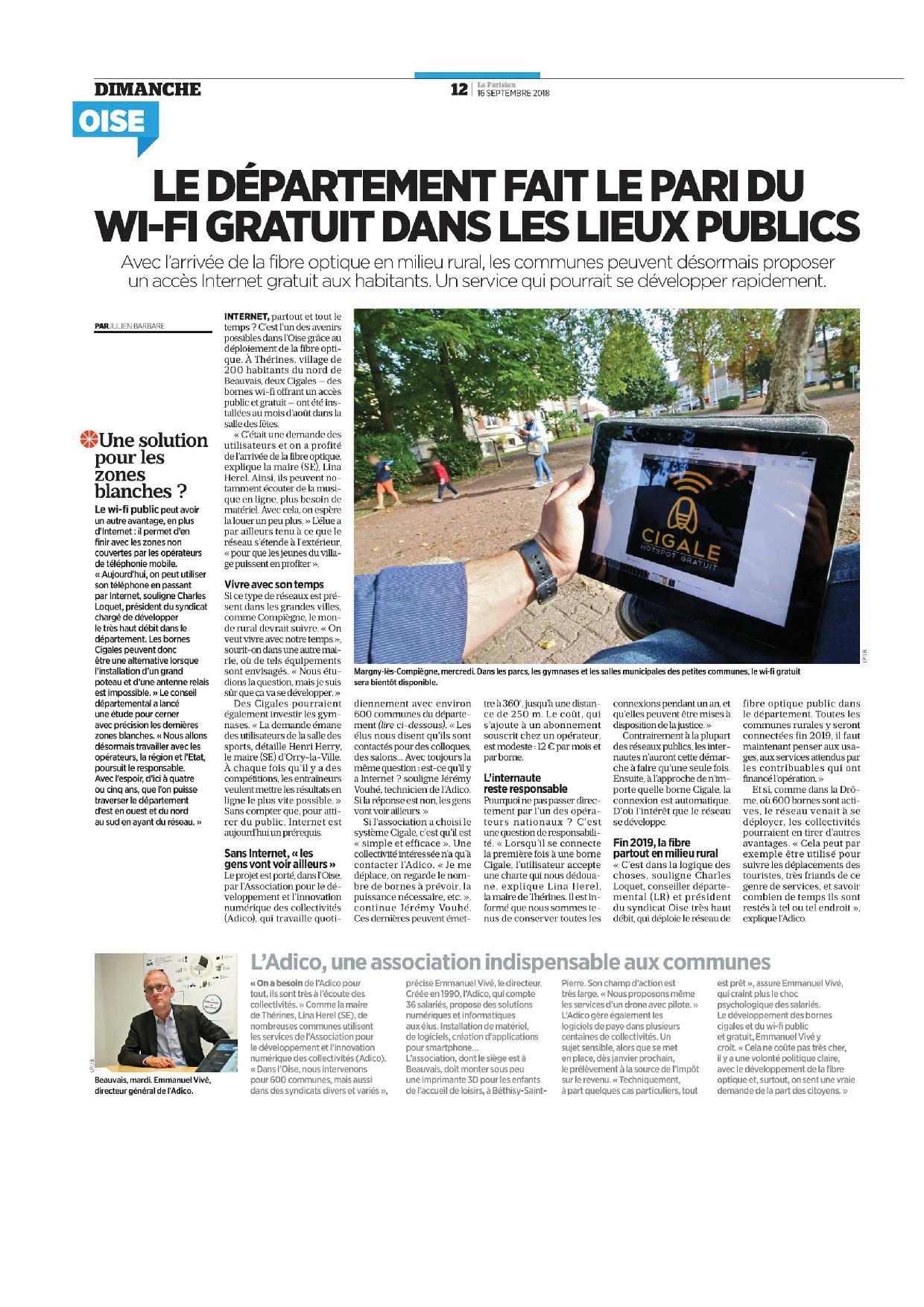 Journal Le Parisien 160918